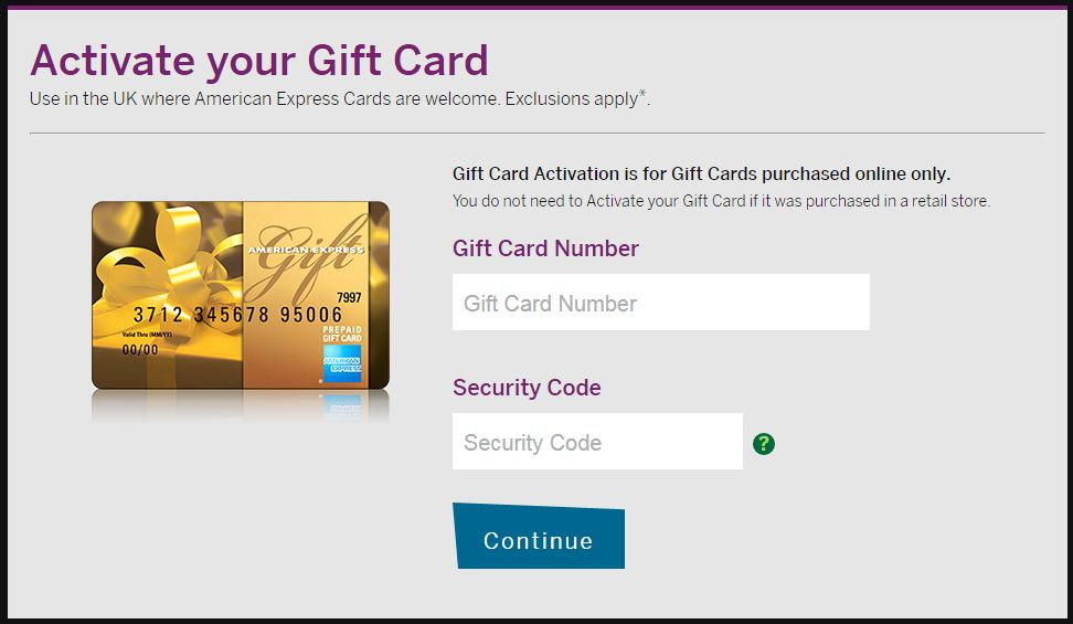 am ex gift card balance 1
