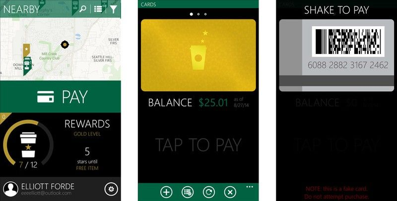 how to add a Starbucks gift card to the app 1
