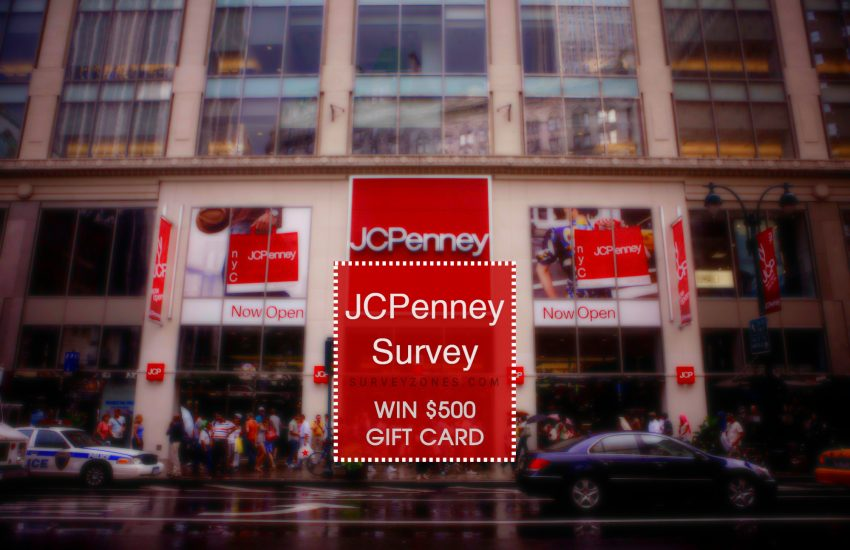 www JCPenney com survey $500 gift card 1