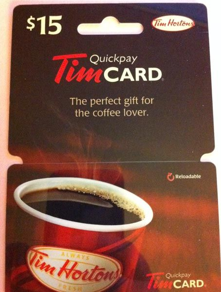 Tim Hortons gift card 1