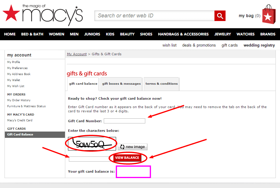 macys gift card balance check photo - 1