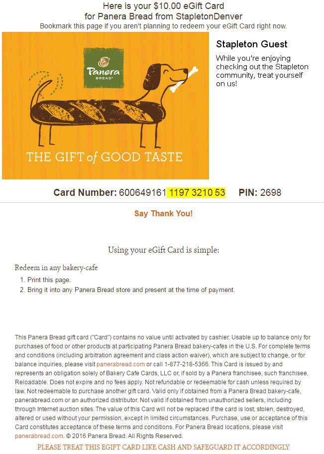 check balance on panera gift card photo - 1