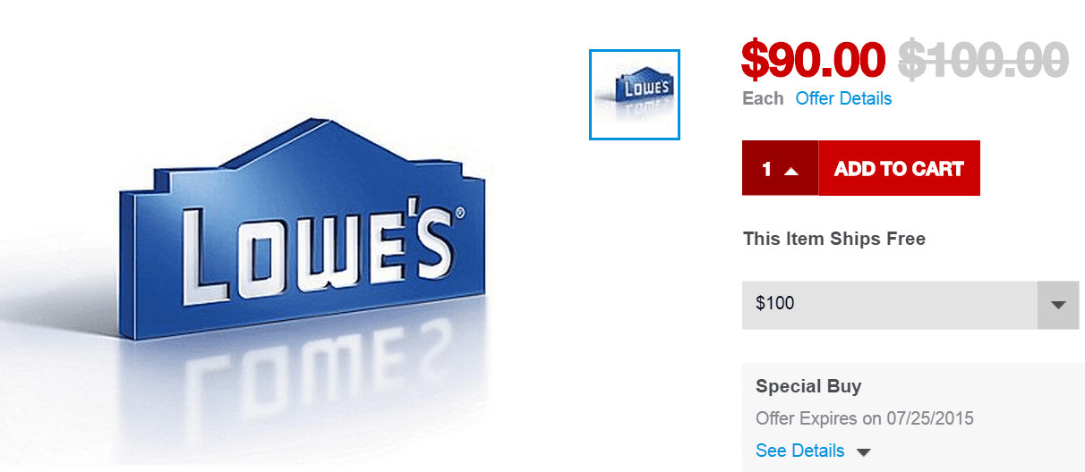 staples lowes gift card photo - 1