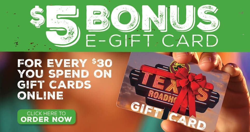 texas roadhouse gift card balance check photo - 1