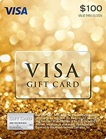 100.00 Visa gift card photo - 1
