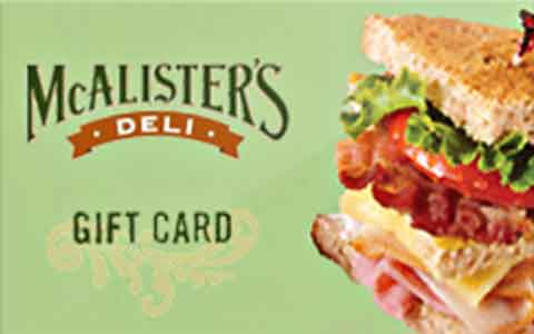 McAlisters Deli gift card photo - 1