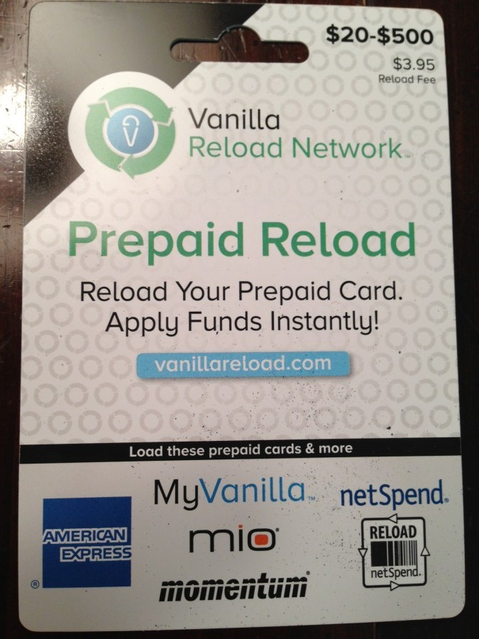 Vanilla gift card reload photo - 1