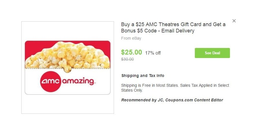 amc gift card balance photo - 1