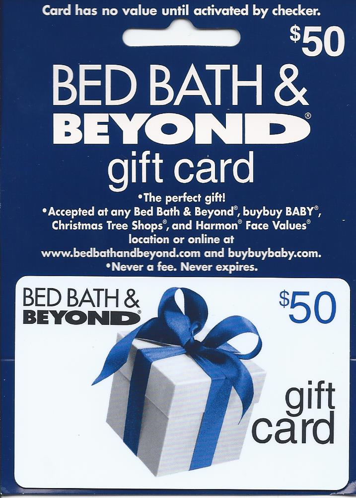 bed bath and beyond check gift card photo - 1