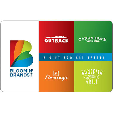 bloomin brands gift card balance photo - 1