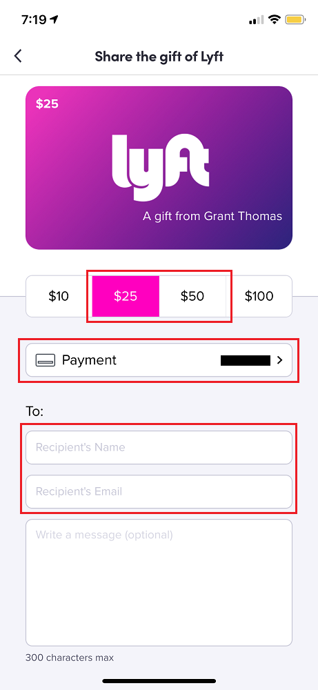buy lyft gift card photo - 1