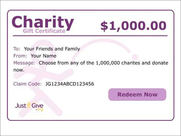 charity donation gift card photo - 1