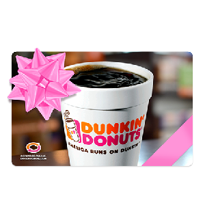 check Dunkin Donuts gift card photo - 1
