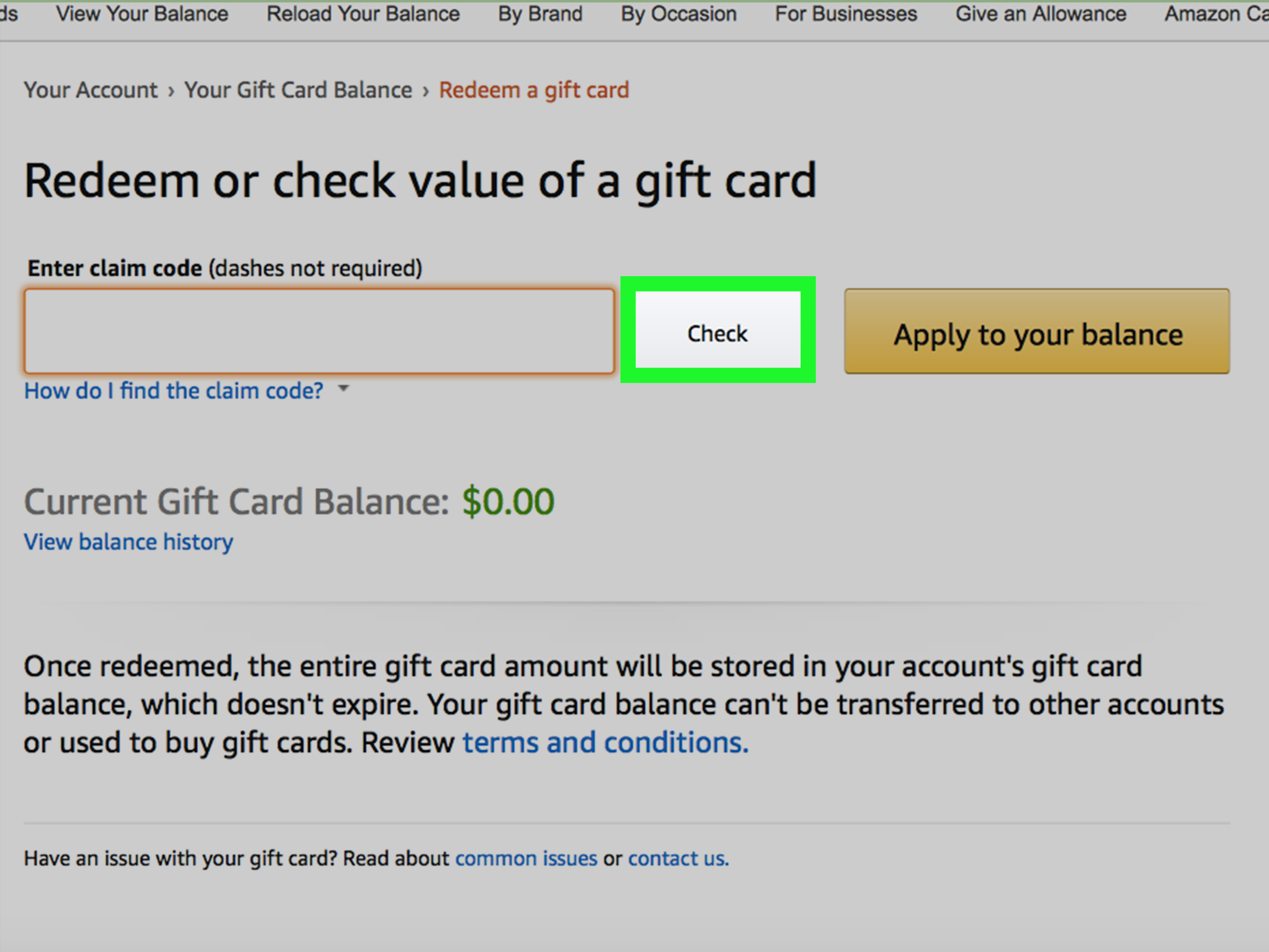 check balance amazon gift card photo - 1