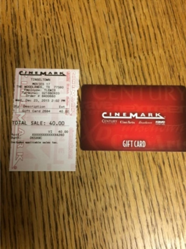 cinemark gift card balance photo - 1