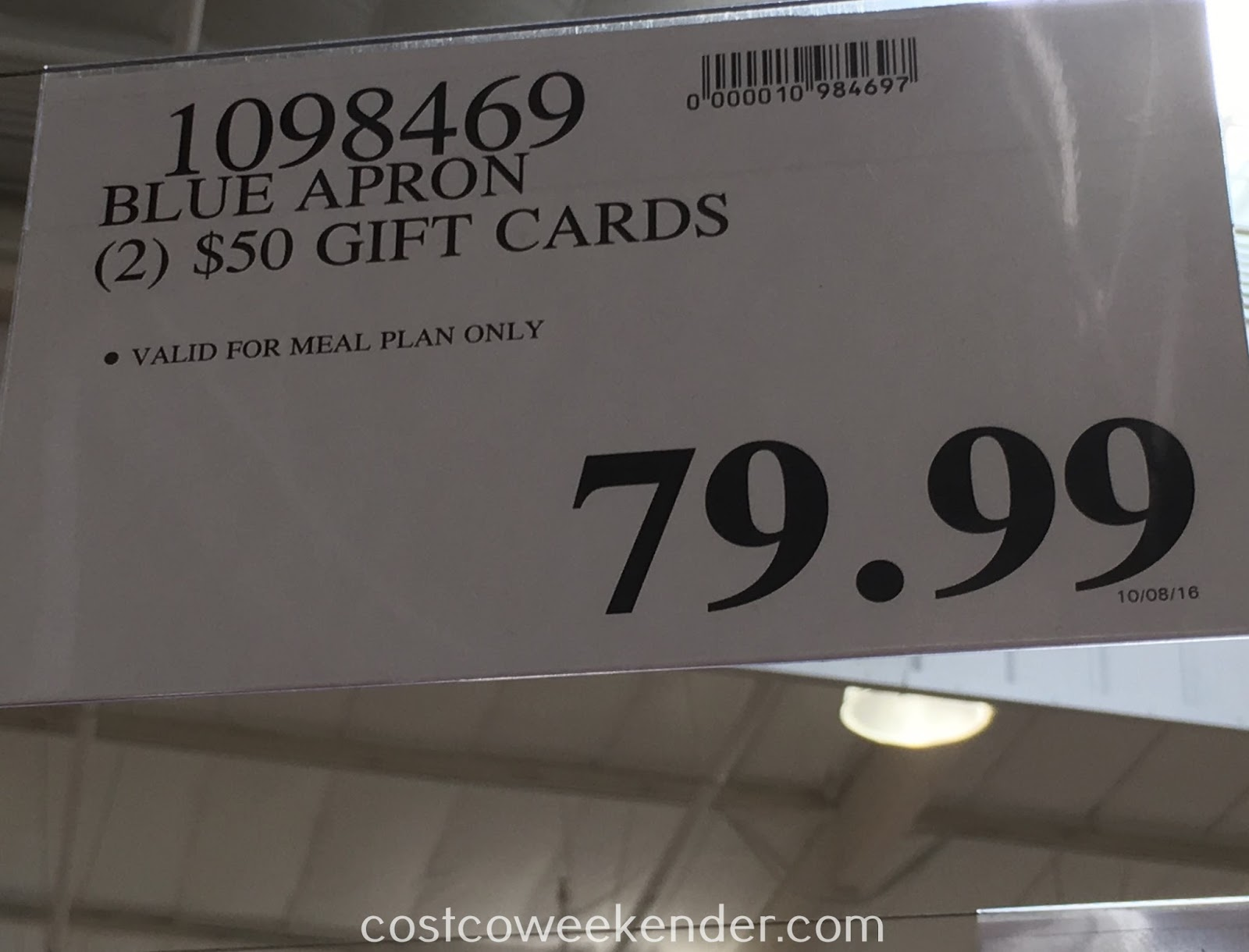 costco blue apron gift card photo - 1
