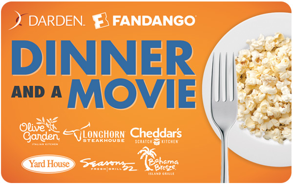 dinner and a movie gift card fandango photo - 1