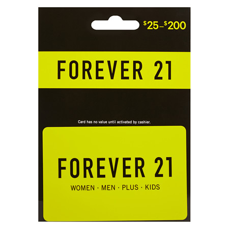 forever 21 gift card Walgreens photo - 1