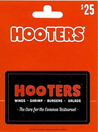 hooters gift card balance photo - 1