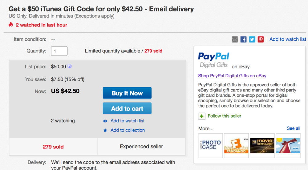 how to use ebay gift card without paypal photo - 1
