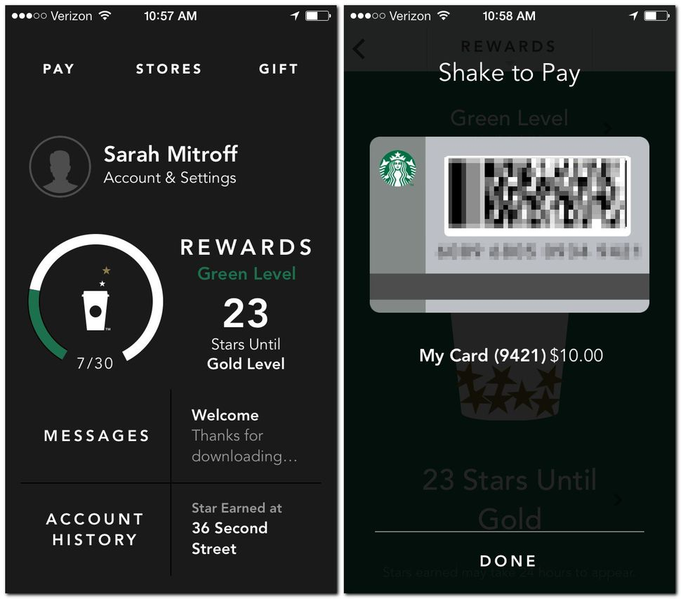 load Starbucks gift card to app photo - 1