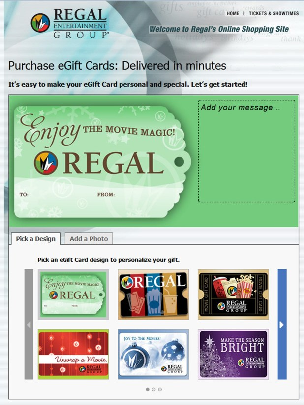 regal entertainment group gift card balance photo - 1