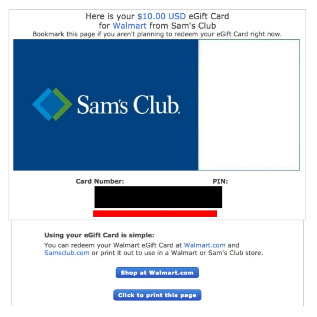 sams club gift card balance photo - 1