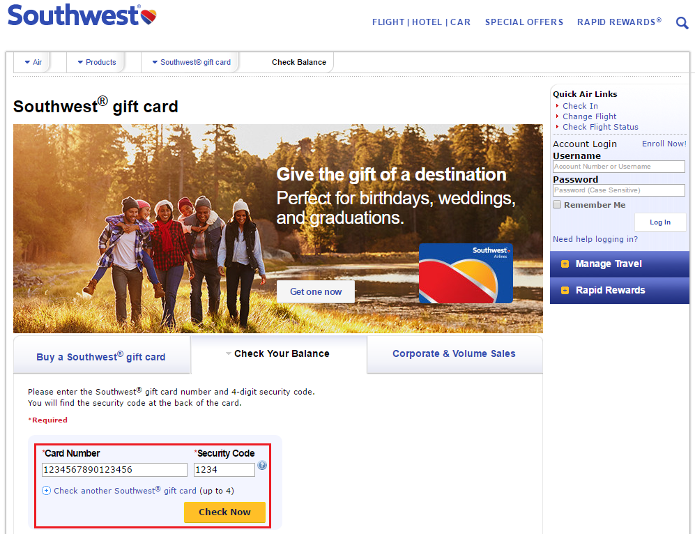 southwest gift card balance photo - 1