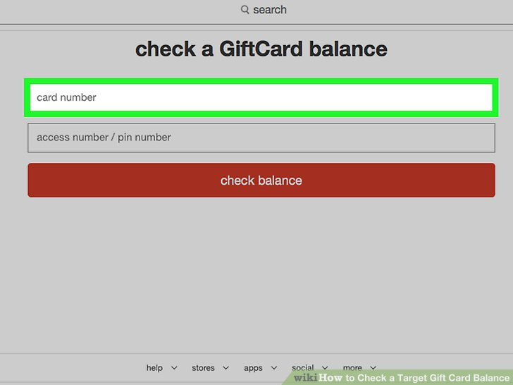 target gift card balance checker photo - 1