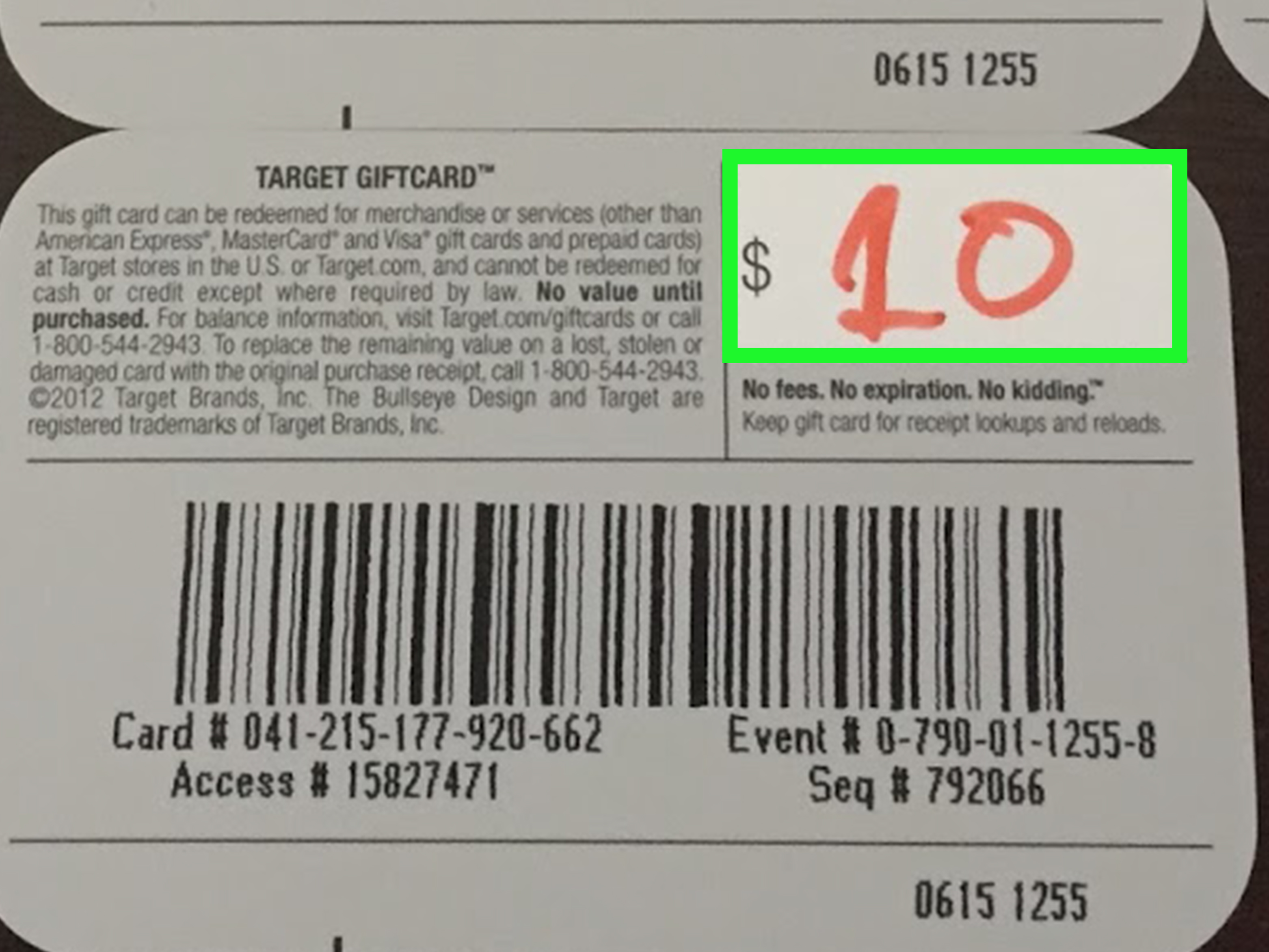 target visa gift card balance photo - 1