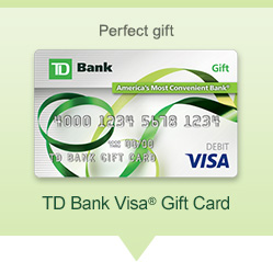 td bank visa gift card balance photo - 1