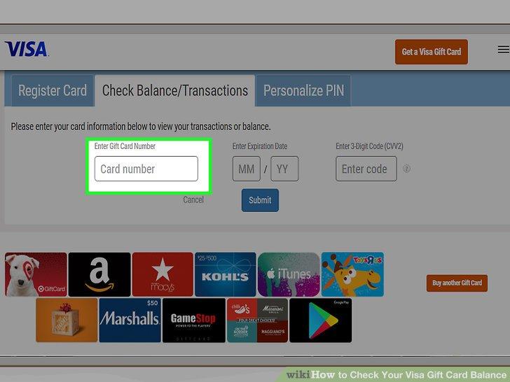 visa gift card balance check photo - 1