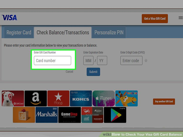 visa gift card balance checker photo - 1