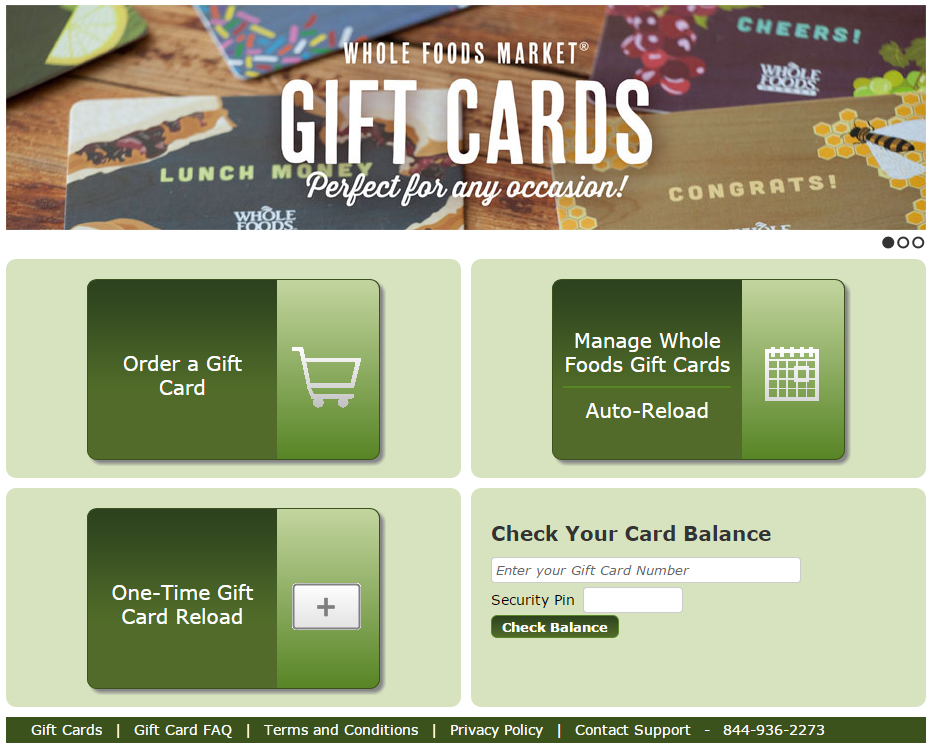 whole foods gift card balance photo - 1