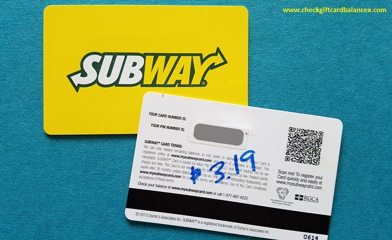 how do you check the balance on a subway gift card 1