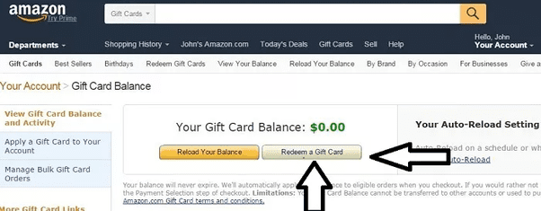 how to check amazon gift card balance without redeeming 1