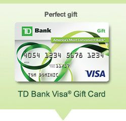 td bank gift card info
