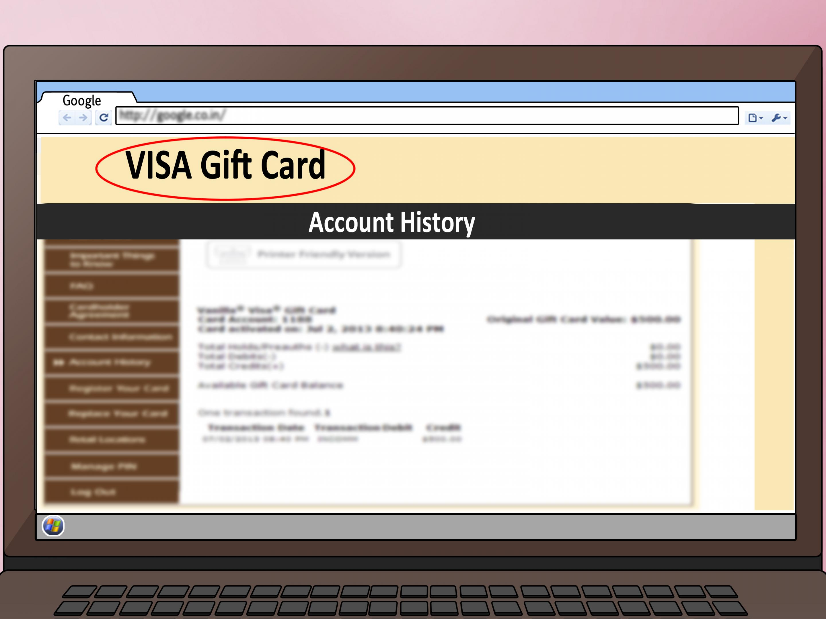 gift card visa balance photo - 1