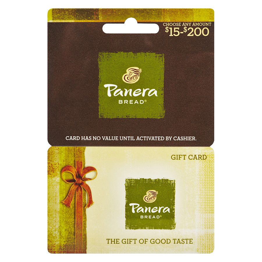 panera bread gift card balance check photo - 1