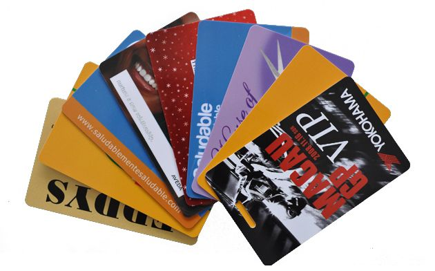 plastic gift card printing photo - 1