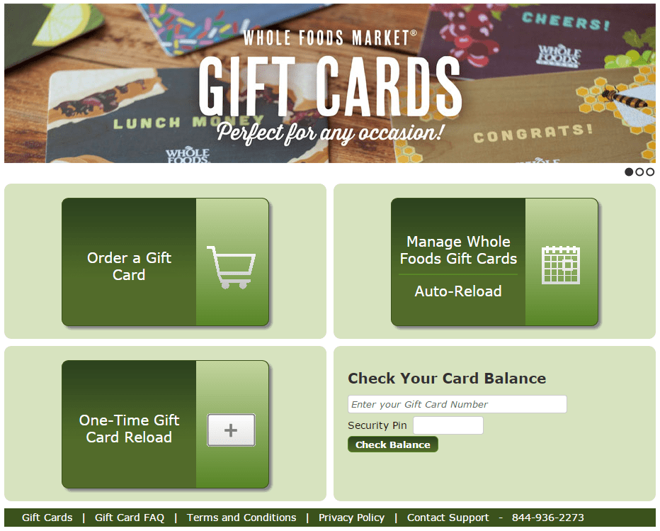 whole foods gift card balance 1