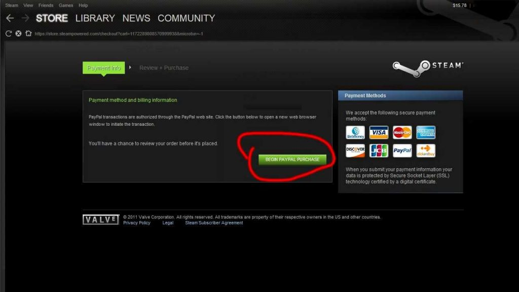 how to use visa gift card on steam 1