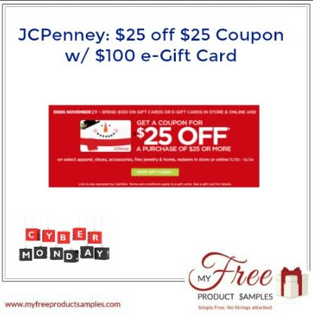 JCPenney gift card 30 off 1