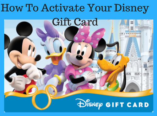 activate Disney gift card 1