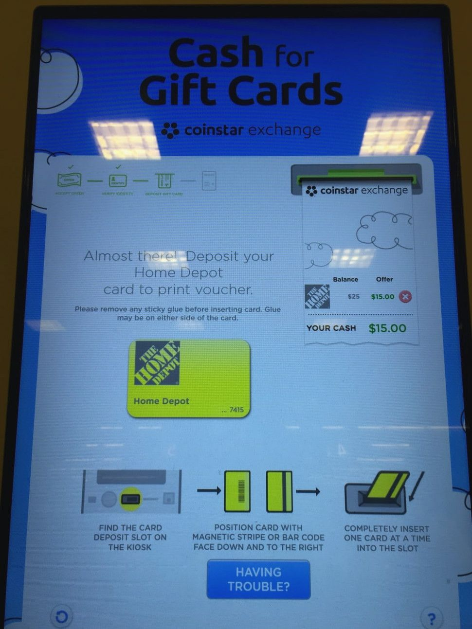 coinstar gift card exchange rate 1