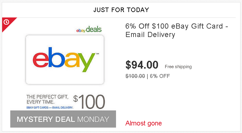eBay gift card to cash 1