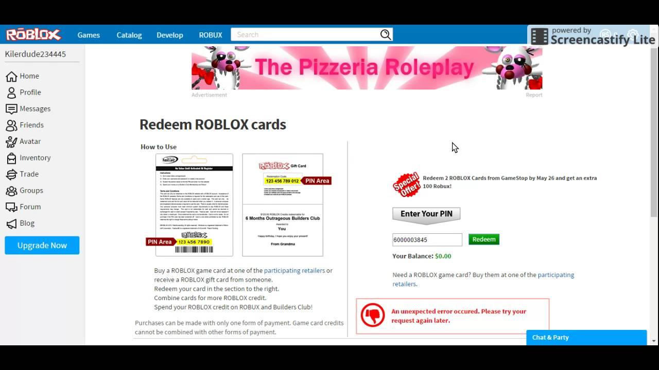 Redeem Gift Card Roblox - Gift Ideas